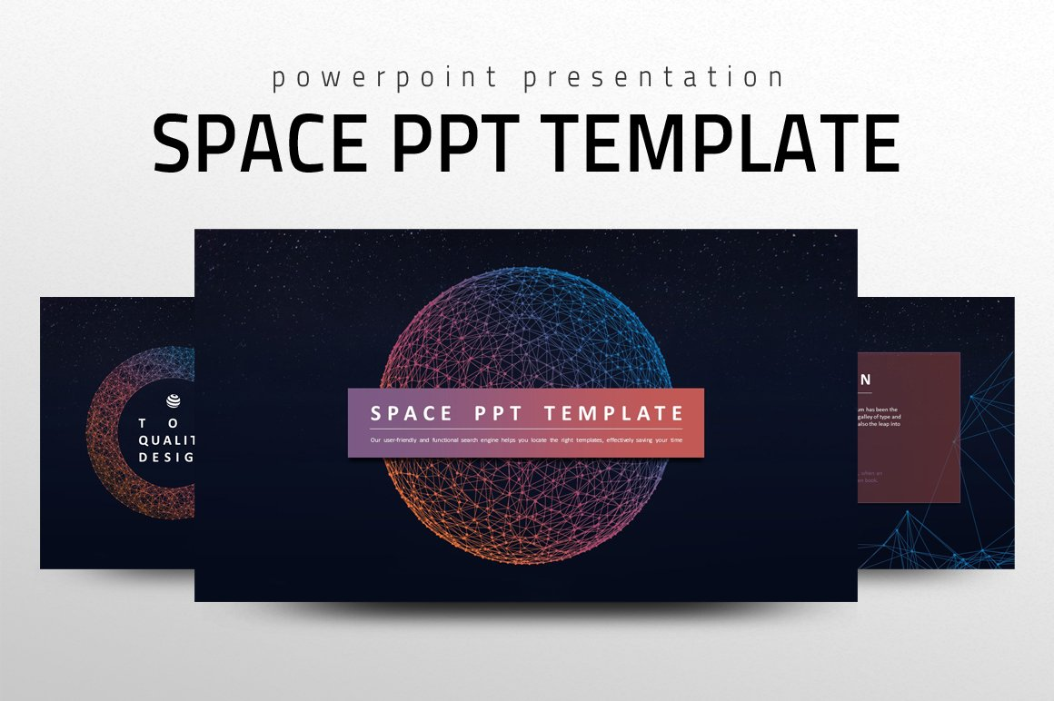 Space ppt template presentation templates creative market toneelgroepblik
