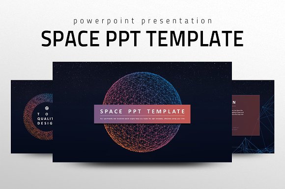 Space Ppt Template Presentation Templates Creative Market