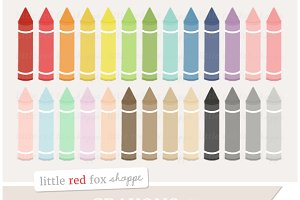 Crayon Digital Clipart Graphics