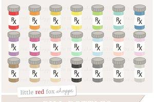 Pill Bottle Clipart Graphics
