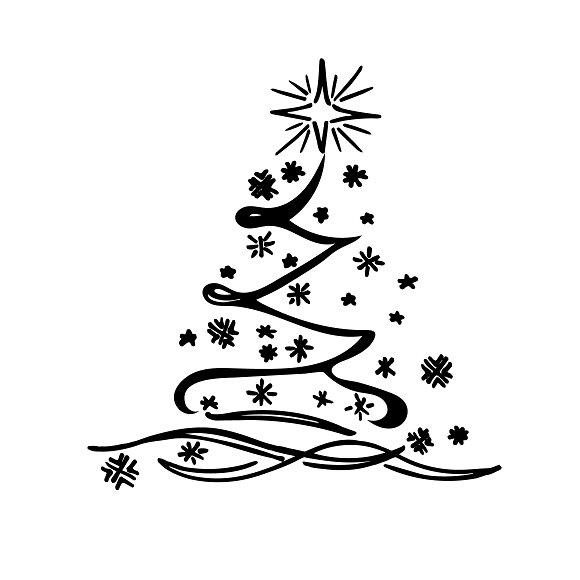 Christmas Tree Sketch Vector Illustrations Creative Market