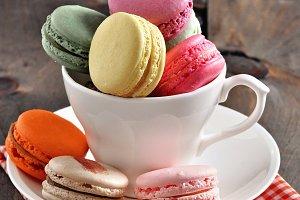 Macarons, toned image