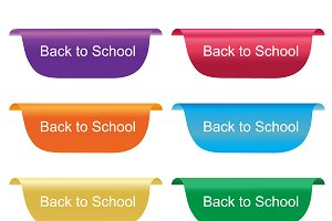 back to school tag, vector