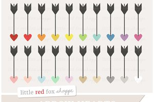 Heart Arrow Clipart Graphics
