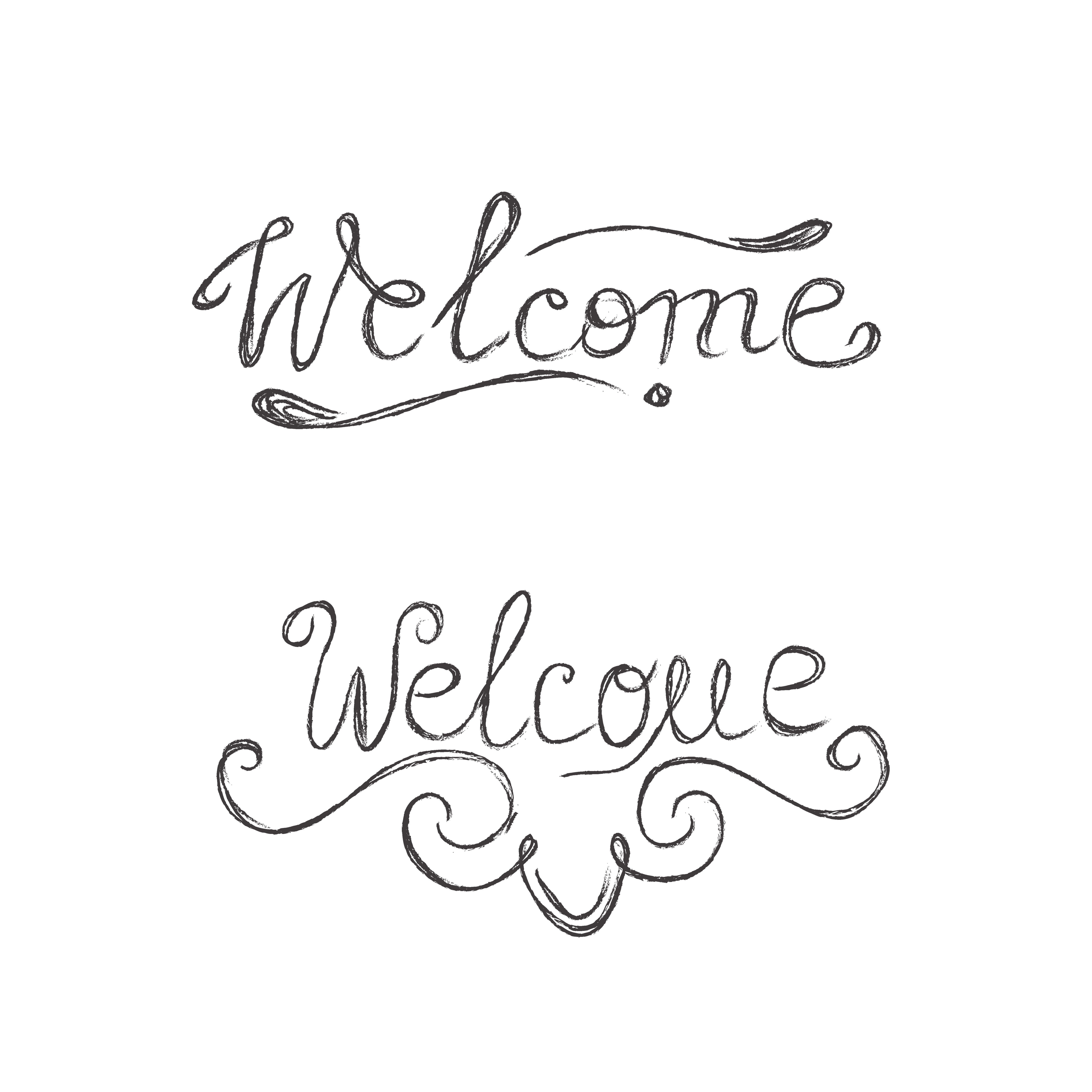 welcome, sketch ~ Illustrations ~ Creative Market