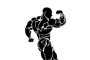 bodybuilding, vector