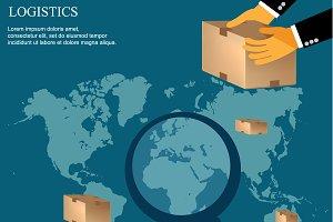 logistics concept, vector