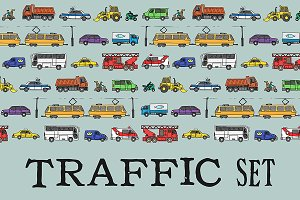 Traffic set. EPS & JPG