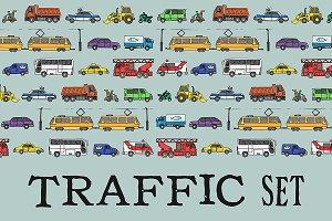 Traffic set. EPS & JPG
