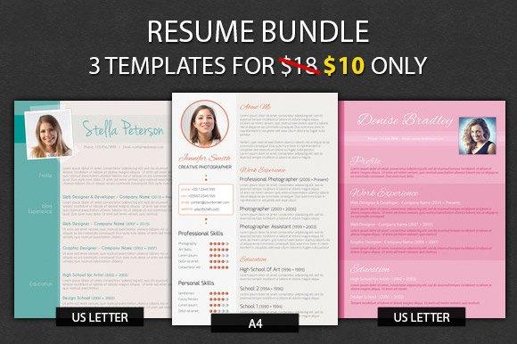 Resume Bundle   Resume Templates