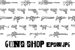 Set of weapons. EPS & JPG