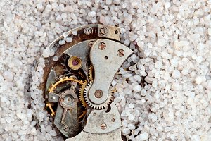 Clock and sand