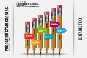 Education Stair Success Infographic