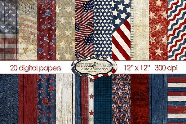 Rustic Americana Scrapbook paper