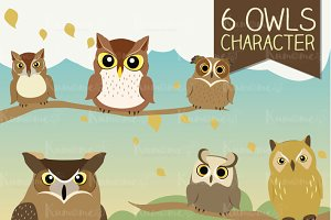 The 6 Owls character set.