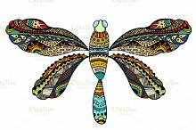 ornate Vector dragonfly