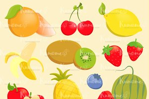 Cute Fruits non outline