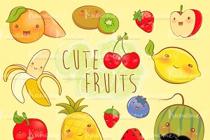 Cute Fruits Expression