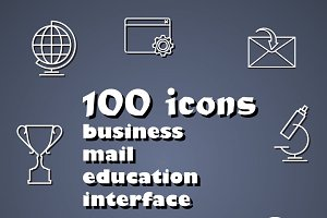 100 outline icons