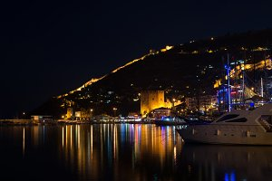 Night view of harbour