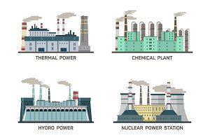 Different types of power plants