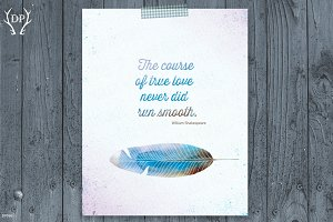 Feather love quote W.Shakespeare