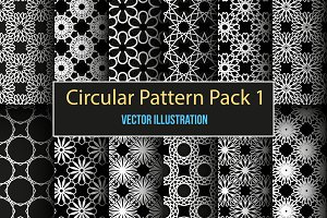 Set of 12 circular seamless patterns