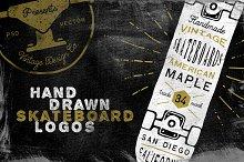 Hand Drawn Skateboard Logos