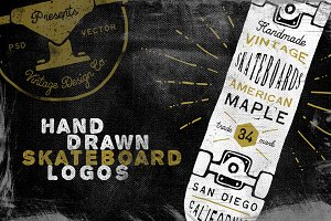 Hand Drawn Skateboard Logos