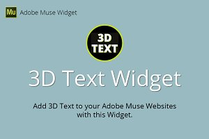 3D Text Adobe Muse Widget