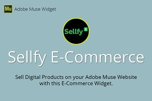 Sellfy E-Commerce Adobe Muse Widget