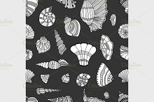 seashell seamless pattern