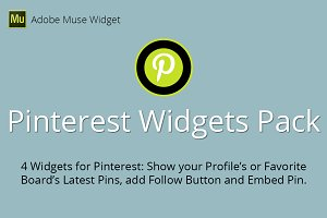Pinterest Adobe Muse Widgets Pack