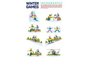 Infographic- winter snow sport games