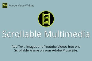 Scrollable Multimedia Muse Widget
