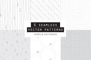 Subtle Seamless Patterns Set of 6