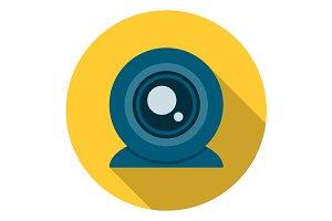 Web camera icon flat