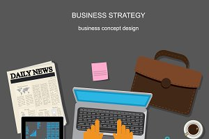 business strategy, template