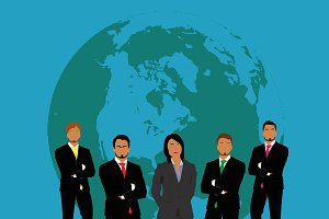 business team, people, vector