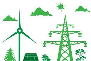 green planet concept, vector