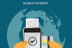 mobile payment, vector