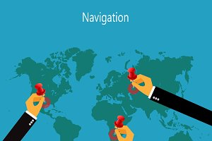 world map, navigation, gps