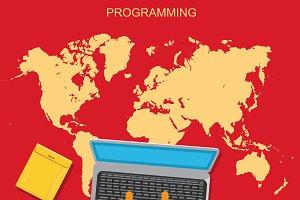 programming, HTML, vector