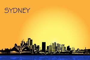 Sydney, Australia, city, vector
