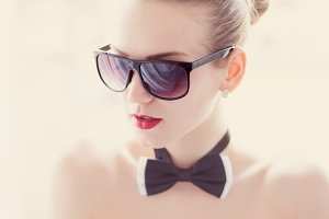 Girl with a bow tie