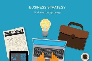 business strategy, vector