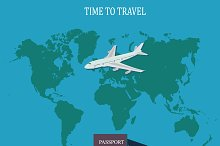 travel concept, vector