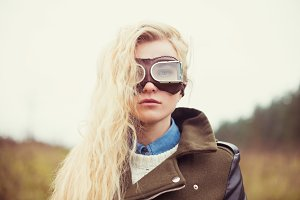 girl with glasses pilot