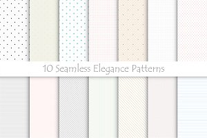 Delicate seamless patterns.