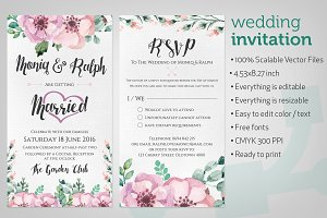 Wedding Invitation Watercolour